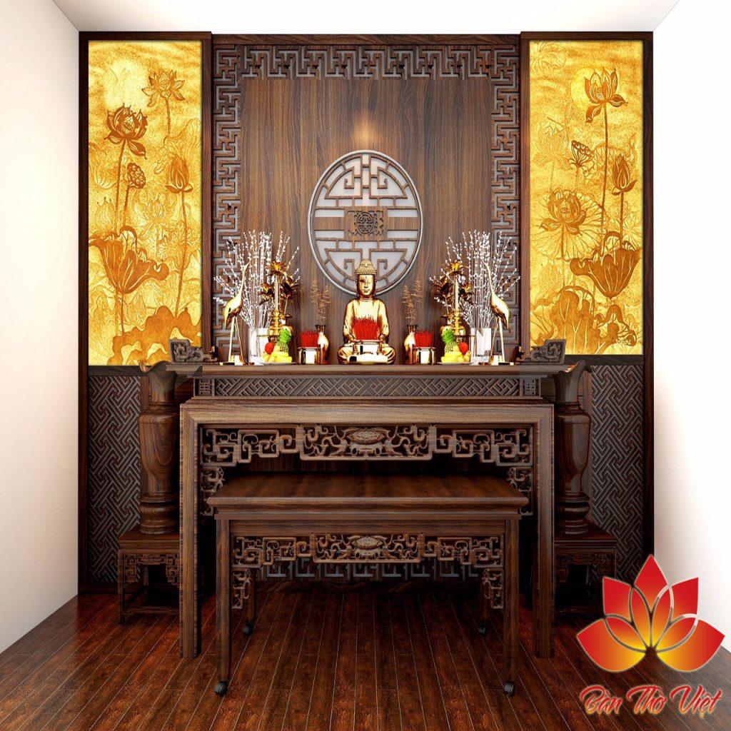 Mẫu phòng thờ ở Hải Dương đẹp được thiết kể chuẩn phong thủy