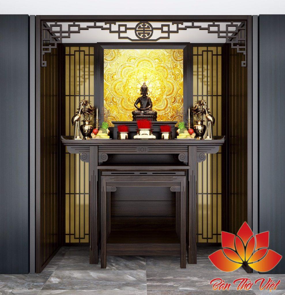 Mẫu thiết kế phòng thờ Phật đẹp