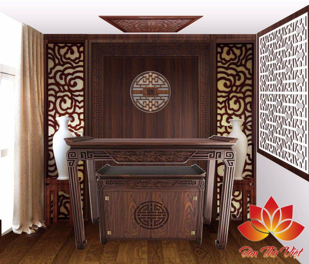 Mẫu phòng thờ CNC đẹp và sang trọng