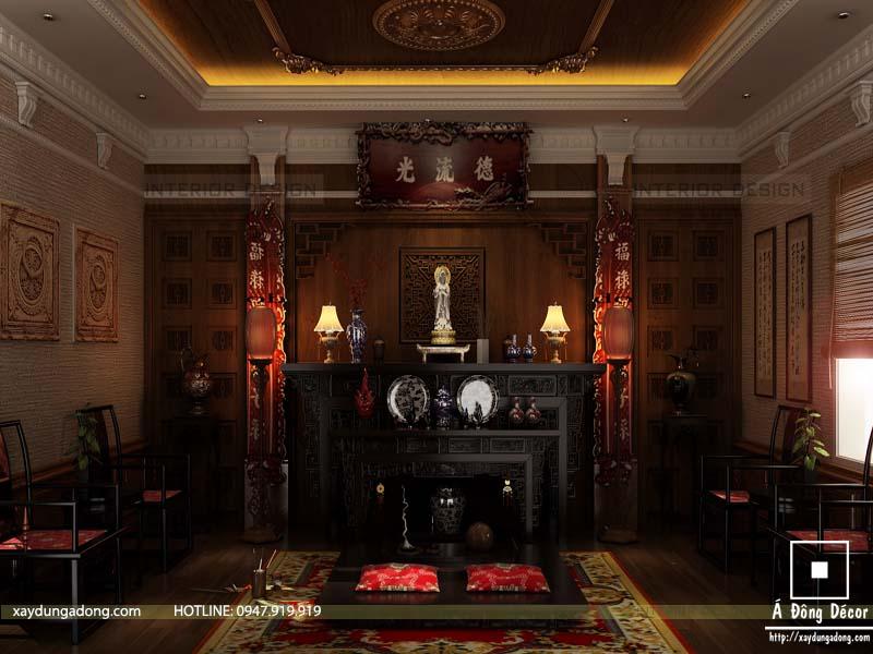 Tổng hợp các mẫu thiết kế nội thất phòng thờ ở Điện Biên đẹp nhất