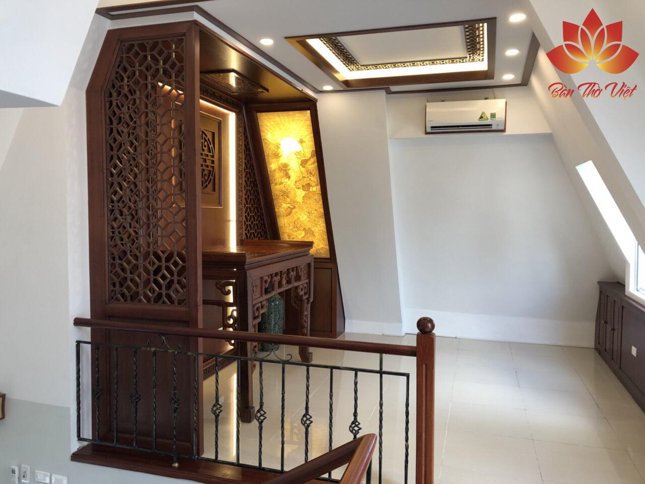 Mẫu trần phòng thờ đẹp cho nhà ống - nhà biệt thự - nhà phố mới nhất