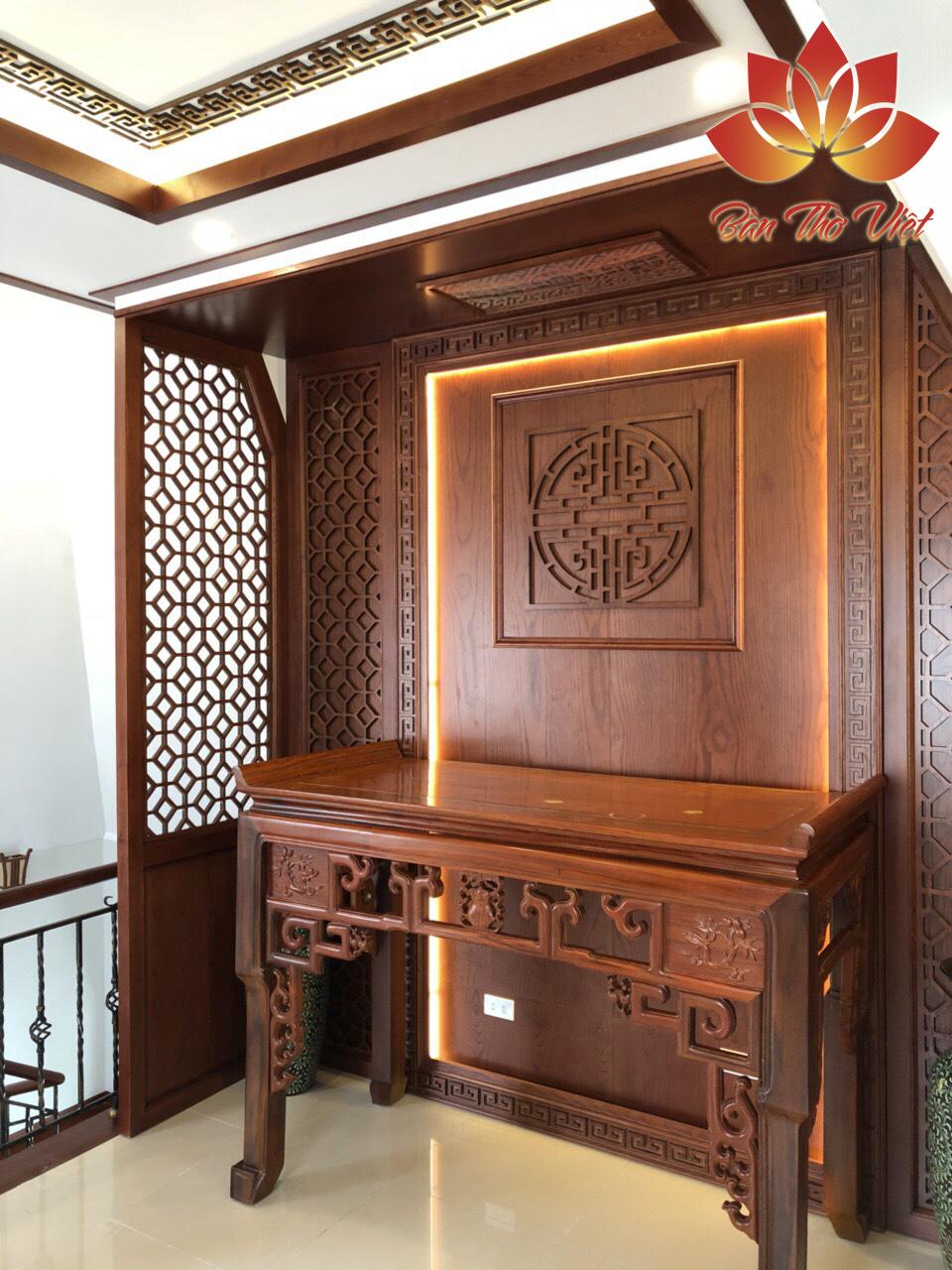 Mẫu thiết kế phòng thờ CNC có vách ngăn Đẹp và Sang