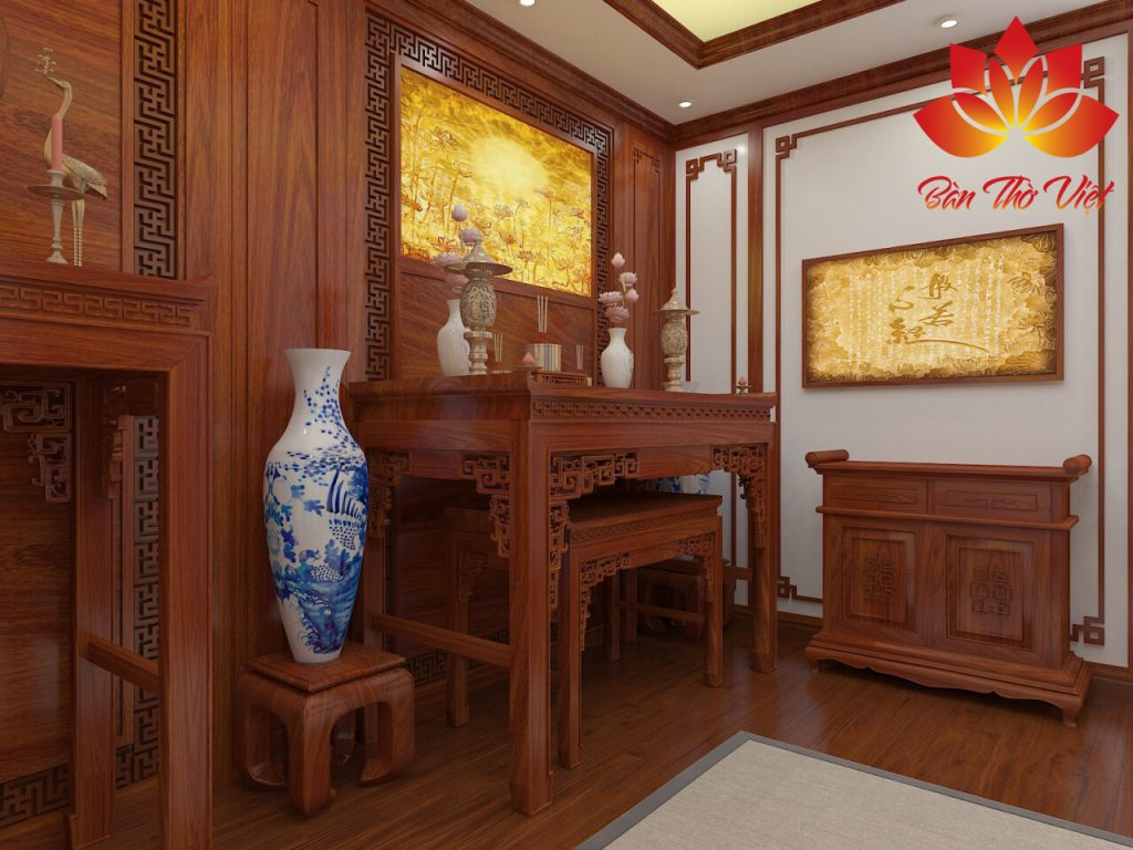 Các mẫu phòng thờ ở Hai Bà Trưng do Phòng thờ Việt thiết kế