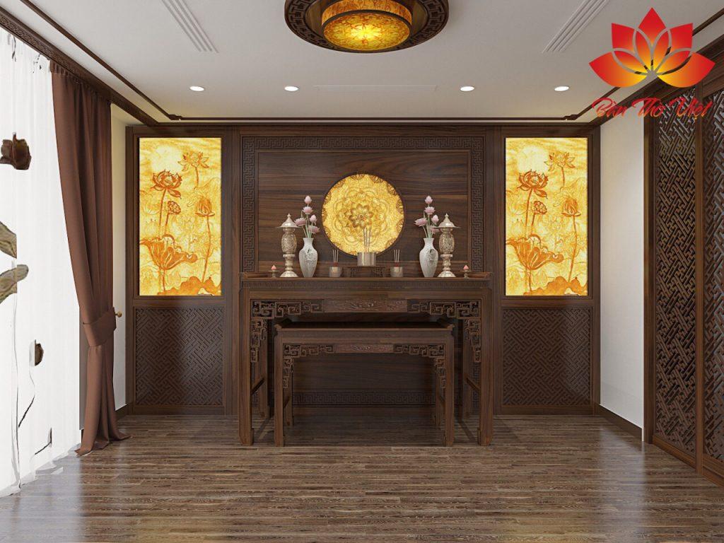 Những mẫu phòng thờ gác lửng đẹp hợp phong thủy