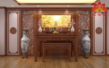 Mẫu phòng thờ ở Hoàn Kiếm đẹp được thiết kế chuẩn phong thủy