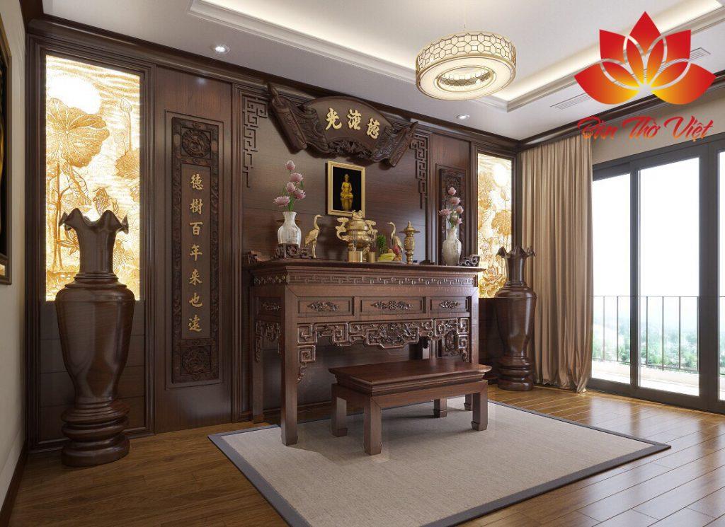 Các mẫu thiết kế nội thất phòng thờ ở Sơn La Đẹp và Thanh Tịnh