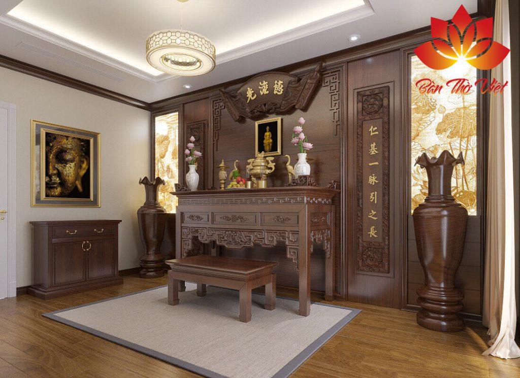 Mẫu nội thất phòng thờ ở Ba Đình do Phòng thờ Việt làm