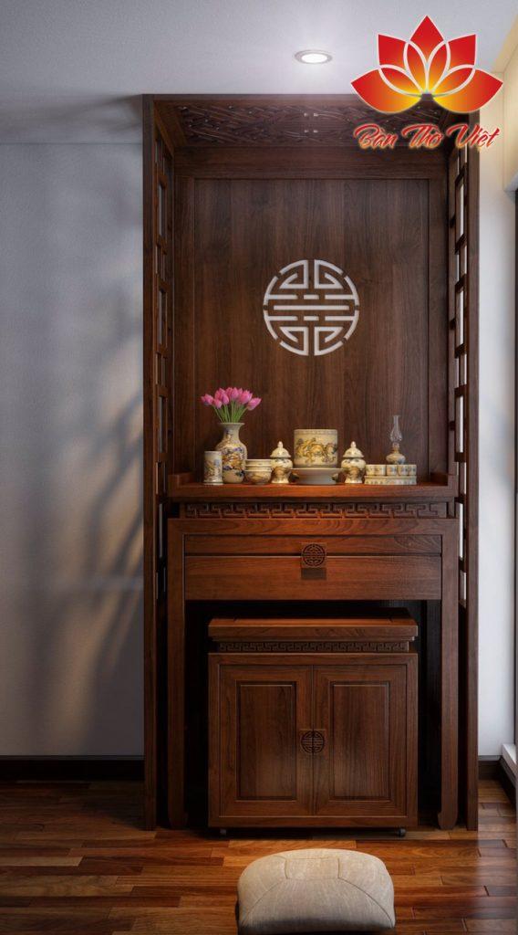 Mẫu thiết kế nội thất phòng thờ ở Bắc Ninh đẹp