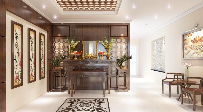 Thiết kế nội thất phòng thờ ở Quảng Ninh đẹp cho gia đình