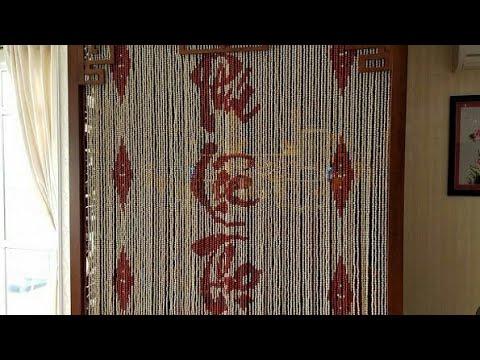 Mẫu rèm phòng thờ bằng gỗ