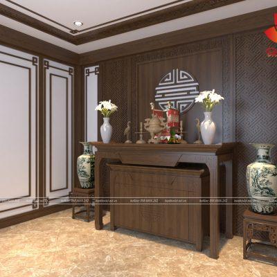 Các mẫu phòng thờ ở Thanh Xuân được thiết kế chuẩn phong thủy