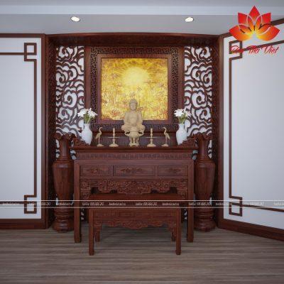 Mẫu phòng thờ ở Long Biên được thiết kế hợp mệnh gia chủ