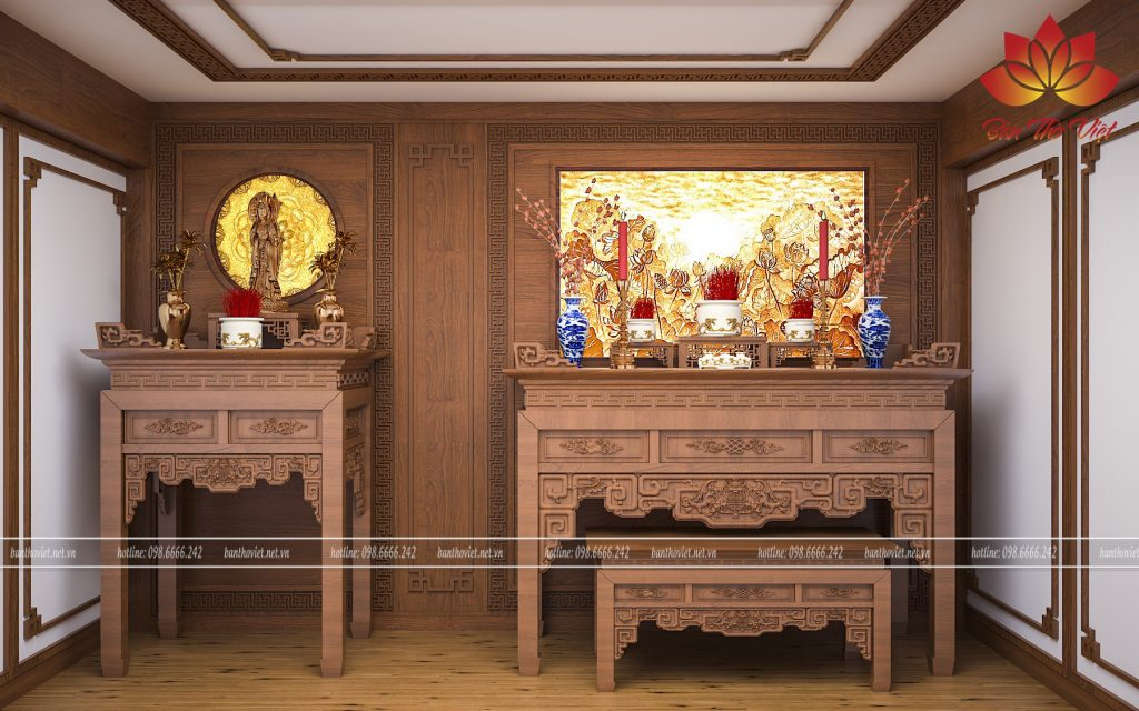 Kích thước bàn thờ rộng bao nhiêu thì đẹp và hợp phong thủy nhất?