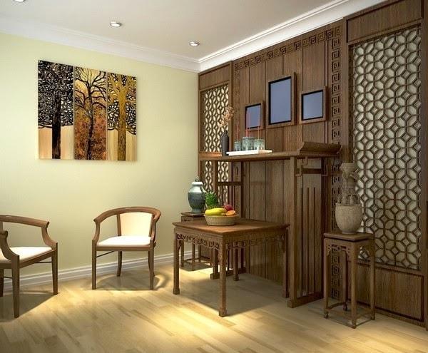 Chọn màu sắc bàn thờ phù hợp không gian phòng khách