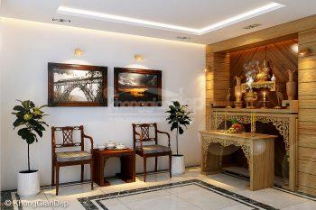 Những mẫu thiết kế bàn thờ phòng khách hiện đại