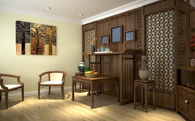 TOP 5 mẫu thiết kế nội thất phòng thờ kết hợp phòng đọc sách Đẹp 3