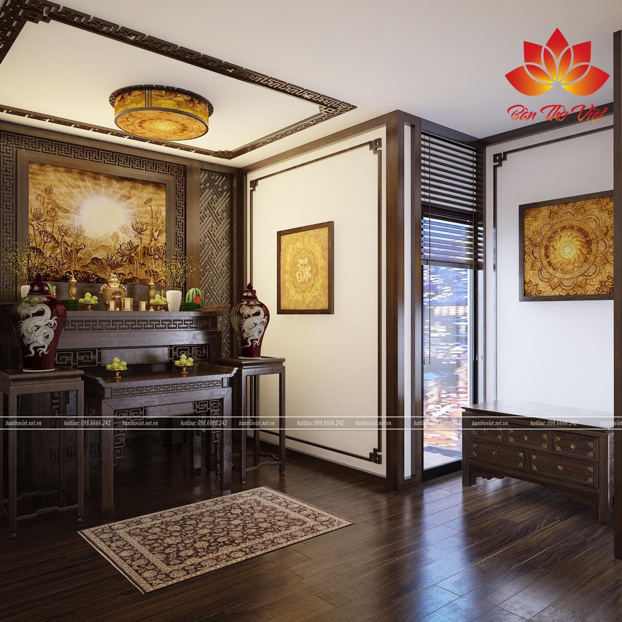 Các mẫu thiết kế nội thất phòng thờ ở Lạng Sơn đẹp và hợp phong thủy
