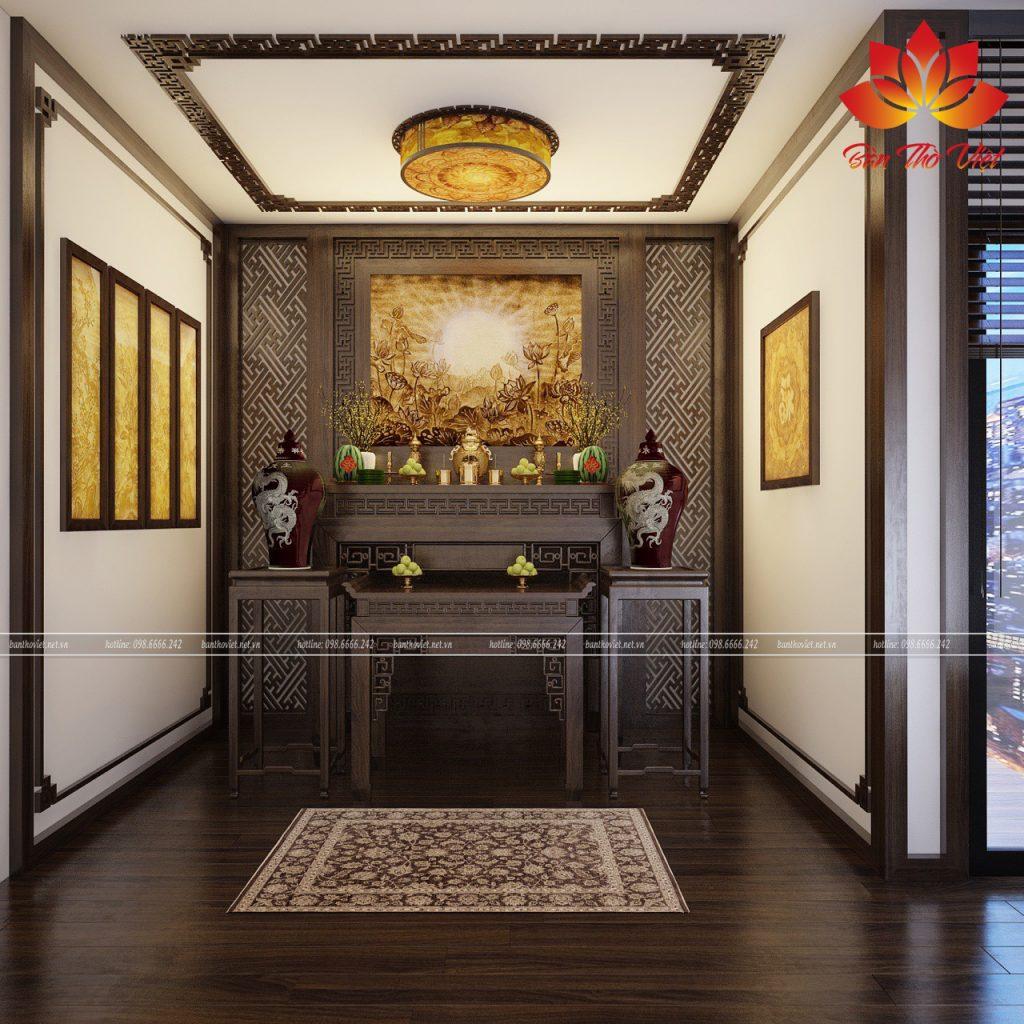 Các mẫu thiết kế nội thất phòng thờ ở Tuyên Quang đẹp hợp phong thủy