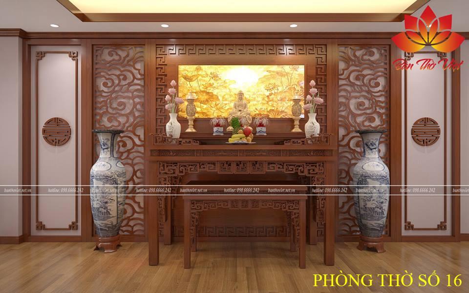 Mẫu bàn thờ gỗ với thiết kế tinh tế