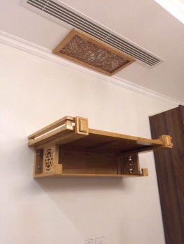 Mẹo chọn bàn thờ treo tường 2 tầng hút Tài hút Lộc cho gia chủ
