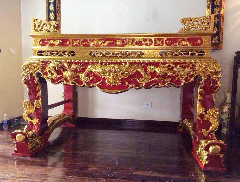 Các mẫu tủ thờ sơn son thếp vàng đơn giản mà cực đẹp