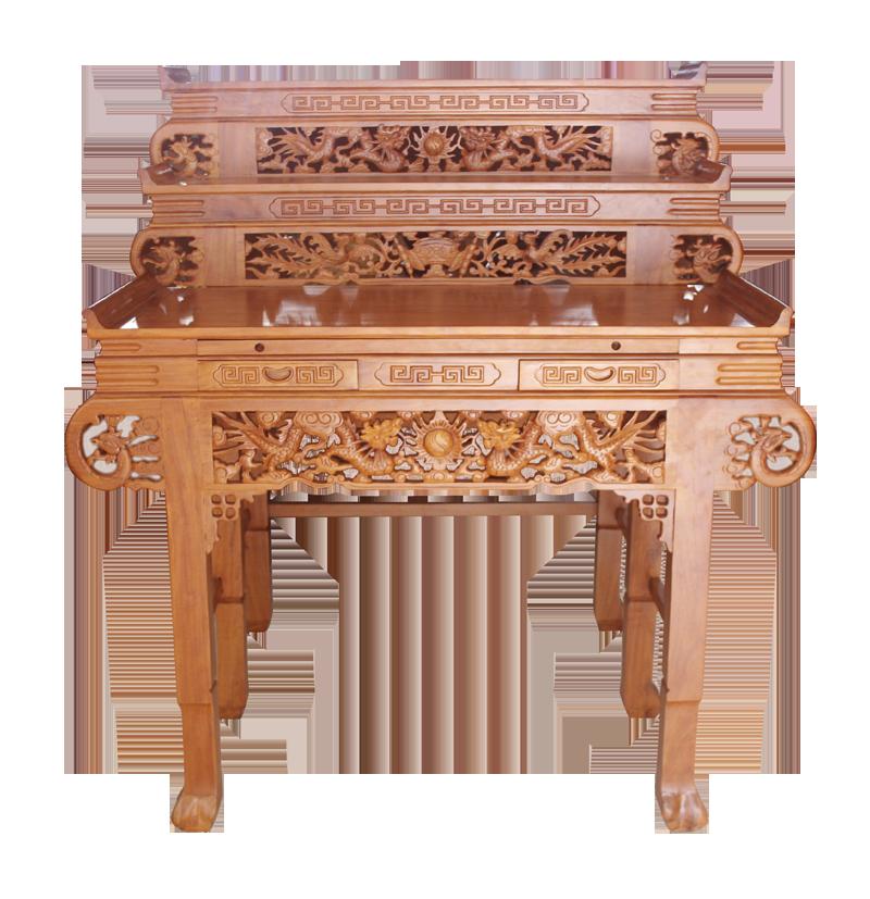 Mẫu bàn thờ treo tường 3 tầng đẹp - Chống ám khói tốt nhất