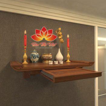 Bàn thờ treo tường loại to đẹp rước tài lộc vào nhà