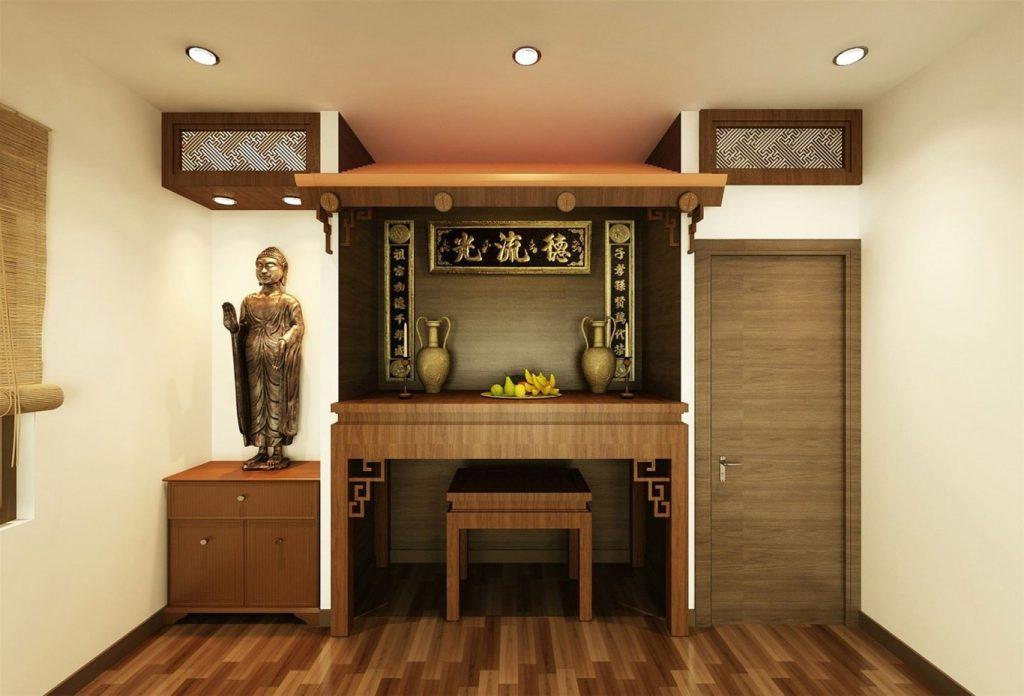 Tổng hợp các mẫu tủ thờ đơn giản được thiết kế chuẩn phong thủy