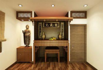 Hướng đặt tủ thờ chung cư theo phong thủy rước tài lộc