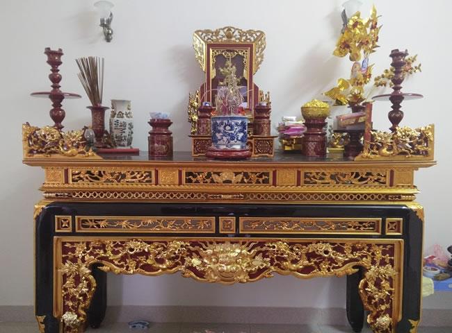 Tổng hợp các mẫu bàn thờ nhà thờ họ Đẹp - Chuẩn phong thủy
