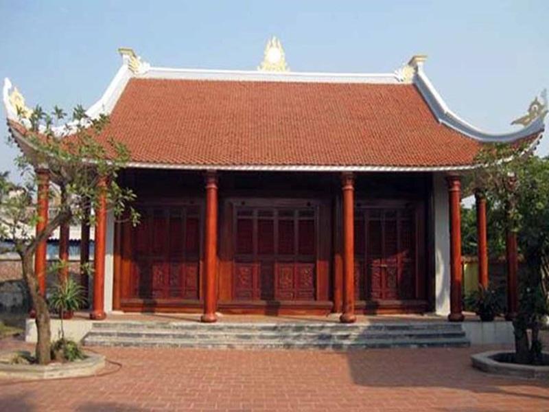 Mẫu nhà thờ họ ba gian được thiết kế chuẩn phong thủy