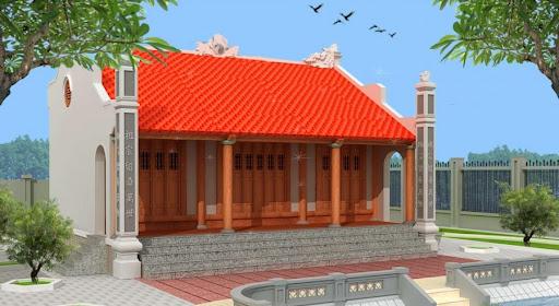 Mẫu thiết kế nhà thờ họ diện tích nhỏ - Mẫu 3