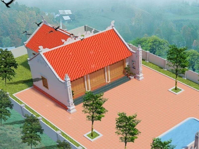 Mẫu thiết kế nhà thờ họ có hậu cũng đẹp và chuẩn phong thủy